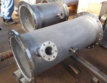 硫酸ライン用ライニング配管製作